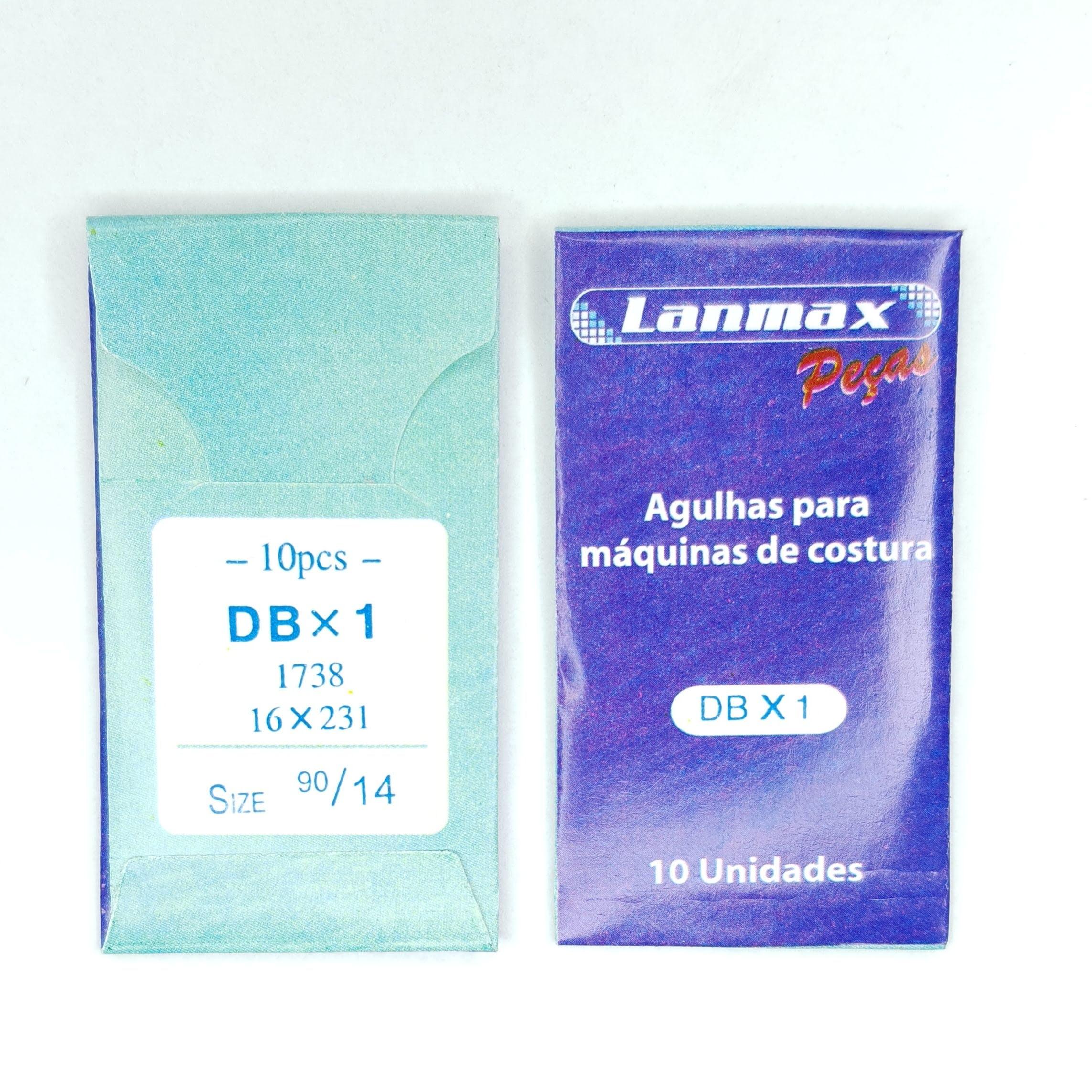 AGULHA PARA MAQUINA DE COSTURA RETA INDUSTRIAL DBX1 - 90/14 - CABO FINO