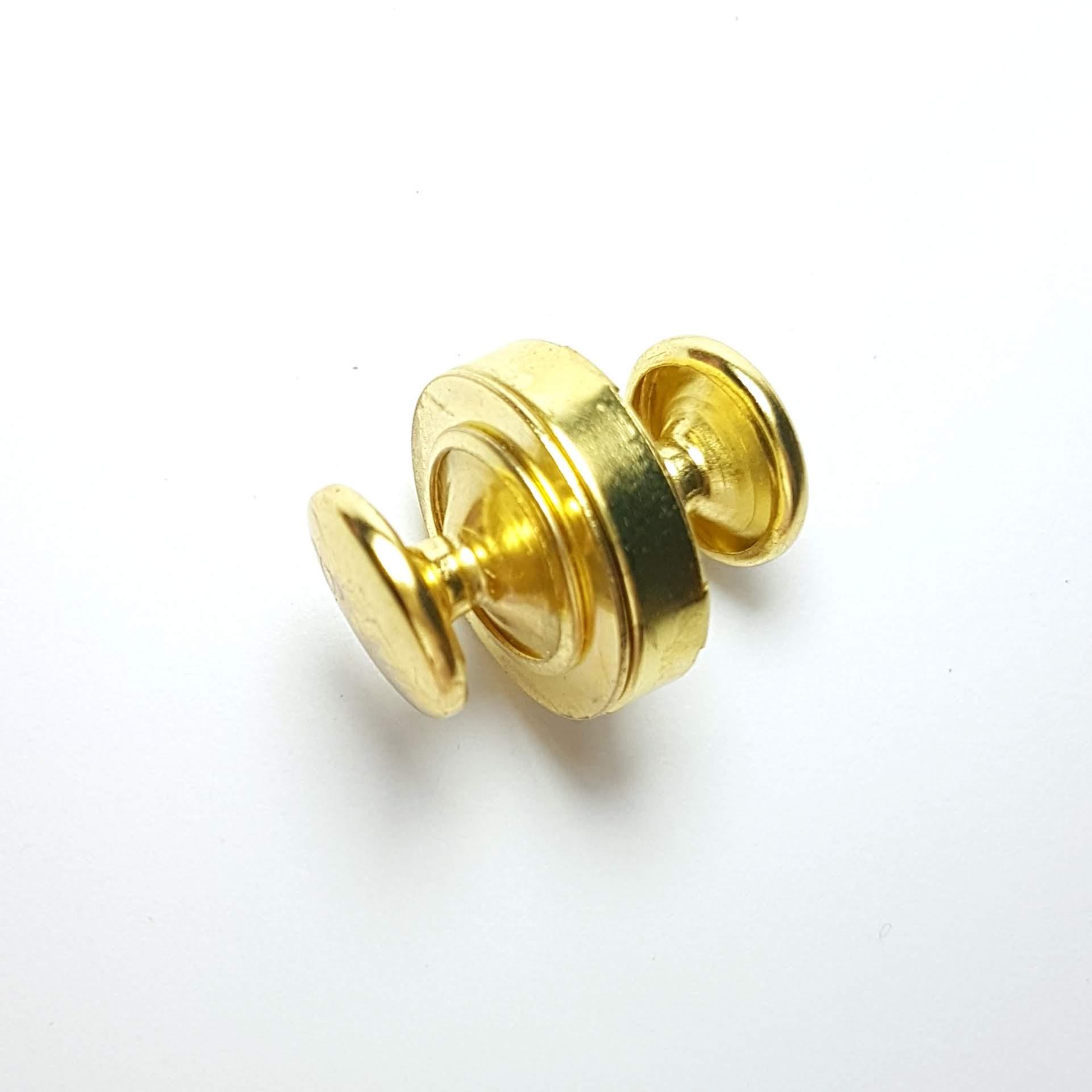 Botão Imantado com Acabamento Duplo 18mm - Dourado