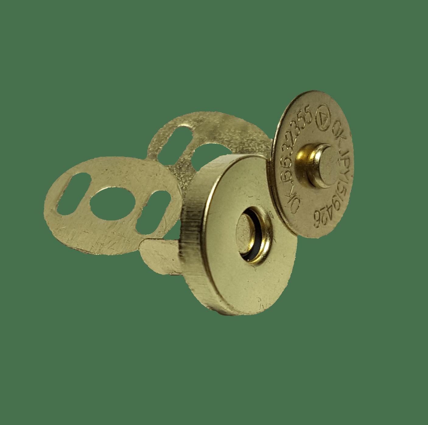 Botão Imantado - Dourado - Pcte c/ 10 unid