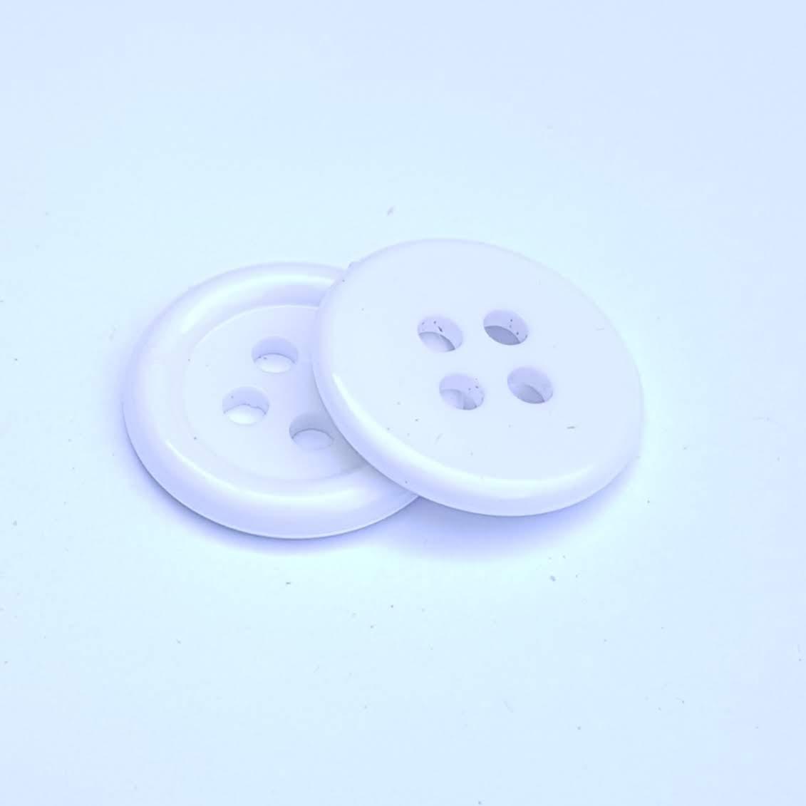 Botão de Casear Ritas 18mm Branco 10unid