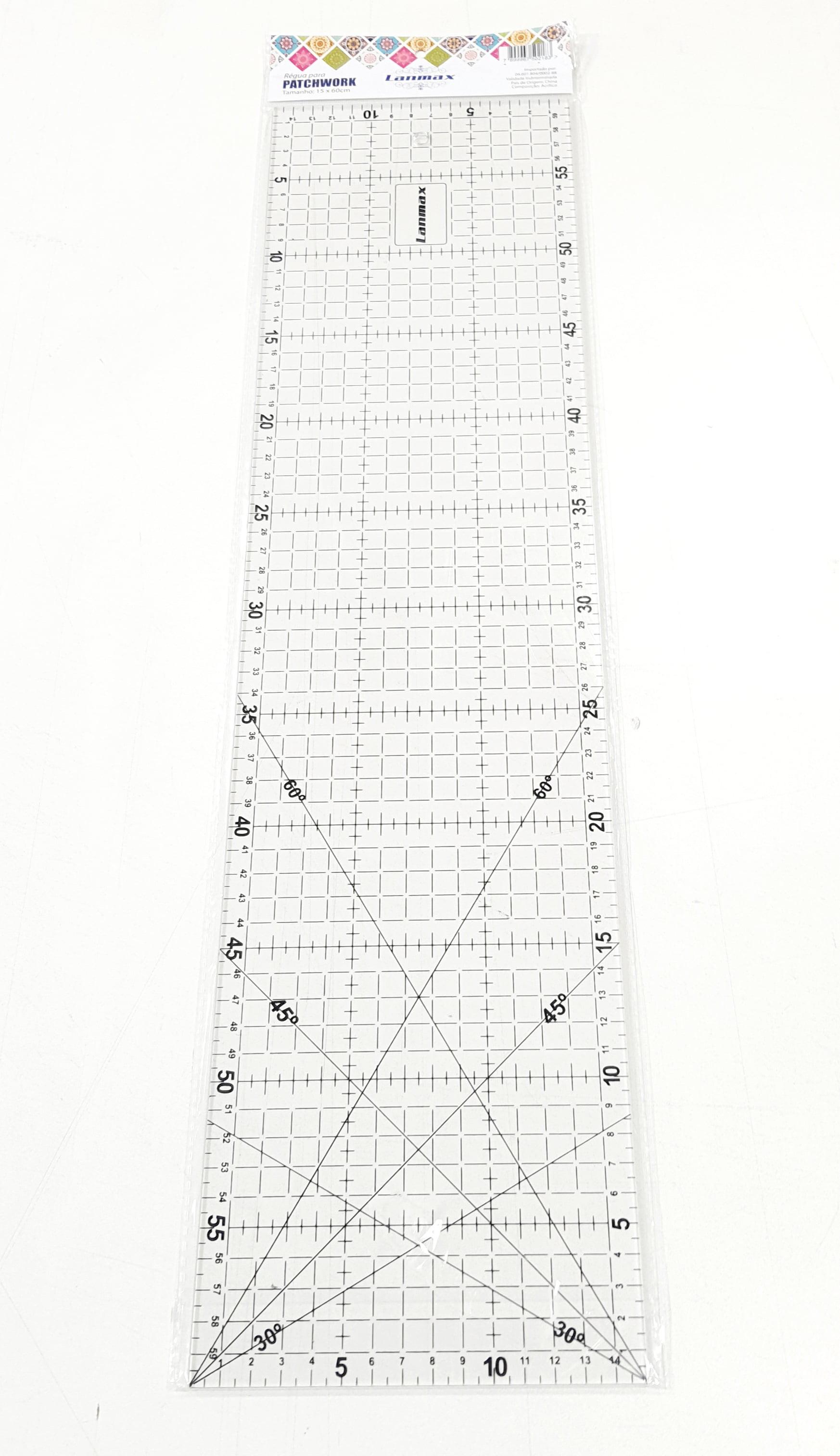 RÉGUA ACRÍLICA PARA PATCHWORK LANMAX 15X60
