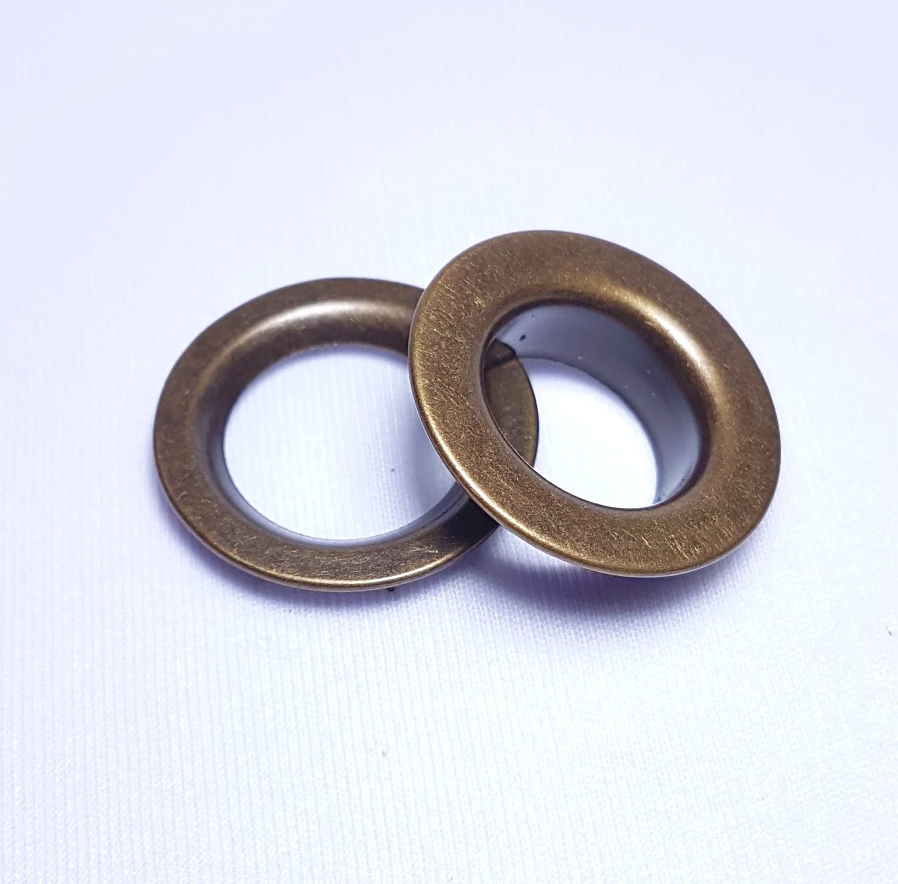 Ilhós de ferro arruela com garra n.º 4 - Ouro Velho - Pcte c/ 10 unid
