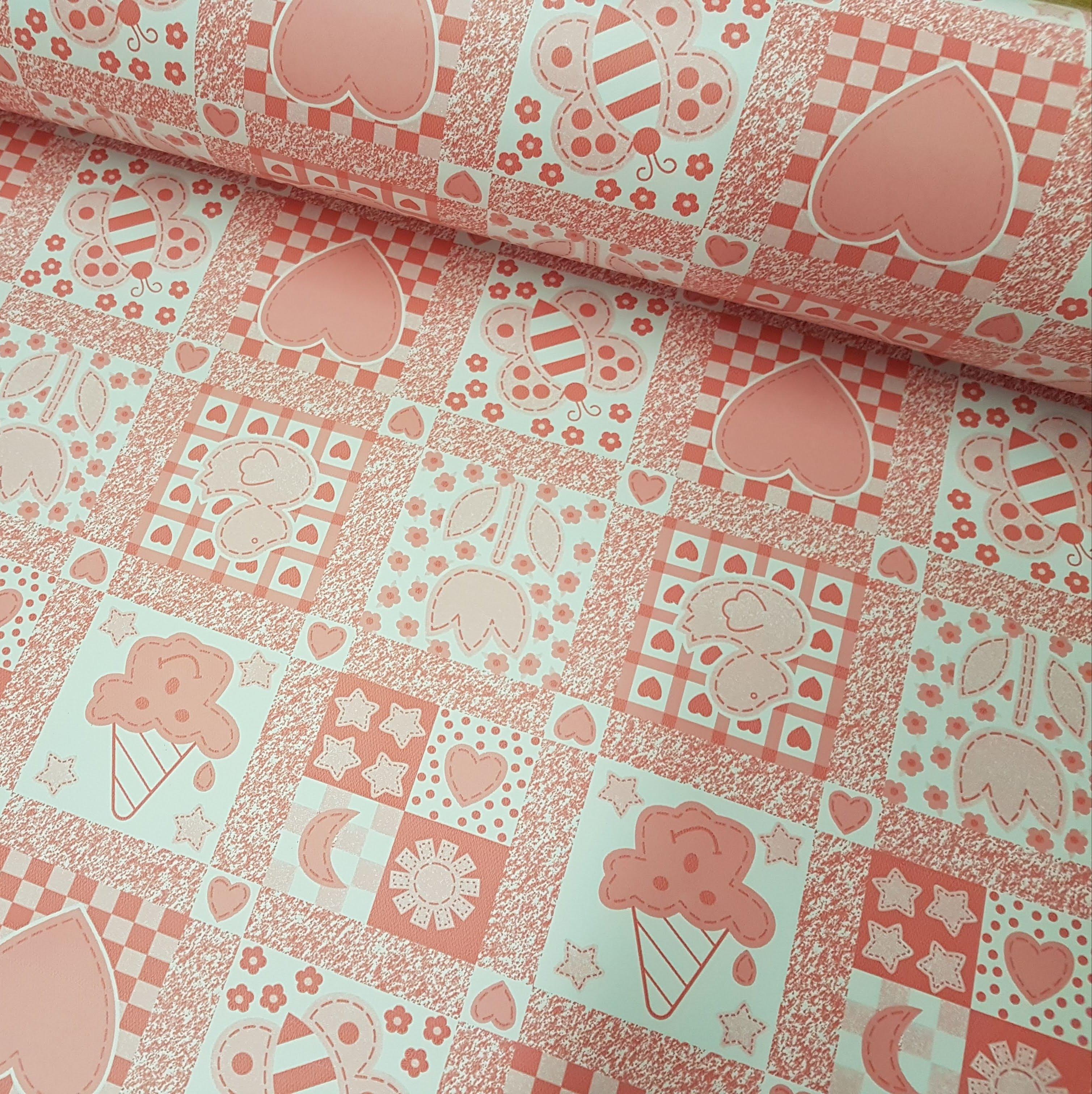 Plastico Laminado estampado 020 - Rosa