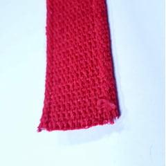 Alça de Algodão Vermelha c/ borda 40mm