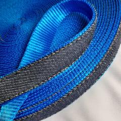 Alça de Nylon c/ jeans 25mm - Azul