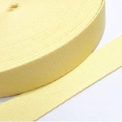 Alça Chick de Poliéster - Amarelo Claro 30mm