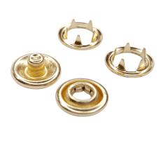 Botão de Pressão Nº 35 - Dourado c/10 UNID