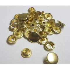 Botão de pressão nº 80 - Dourado - Pcte c/ 5unid