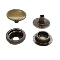 Botão de pressão nº 80 - Ouro Velho - Pcte c 10 unid