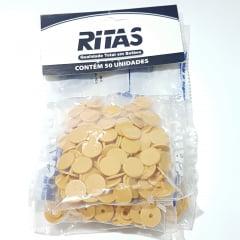 Botão de Pressão Ritas - 10mm  Cor Bege c/ 50 unid