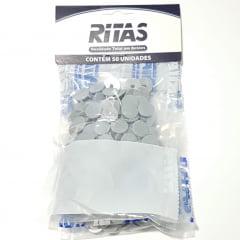 Botão de Pressão Ritas - 10mm  Cor Cinza c/ 50 unid
