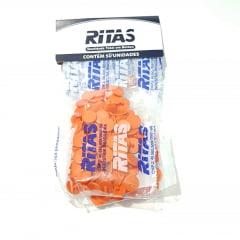 Botão de Pressão Ritas - 10mm  Cor Laranja c/ 50 unid