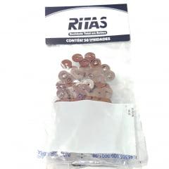 Botão de Pressão Ritas - 10mm  Cor Marrom c/ 50 unid