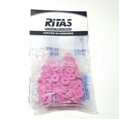 Botão de Pressão Ritas - 10mm  Cor Pink c/ 50 unid