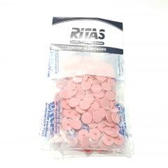 Botão de Pressão Ritas - 10mm  Cor Salmão c/ 50 unid