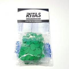 Botão de Pressão Ritas - 10mm  Cor Verde Bandeira c/ 50 unid
