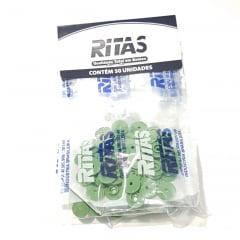 Botão de Pressão Ritas - 10mm  Cor Verde Musgo c/ 50 unid