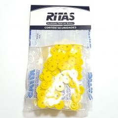 Botão de Pressão Ritas - 12mm  Cor Amarelo c/ 50 unid