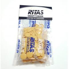 Botão de Pressão Ritas - 12mm  Cor Bege c/ 50 unid
