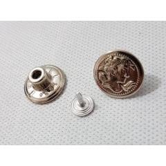 Botão fixo de ferro 15mm Eberle - c/ 5 Unid