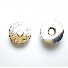 Botão Imantado com Acabamento Duplo - Niquelado