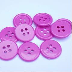 Botão de Casear Ritas 18mm Pink 10unid