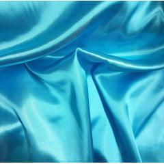 Tecido Cetim Liso - LG 150cm - Azul