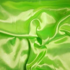 Tecido Cetim Liso - LG 150cm - Verde Limão