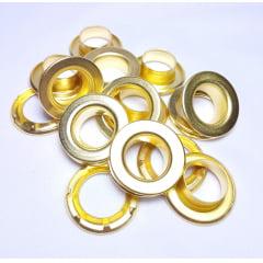 Ilhós de ferro arruela com garra n.º 2 - Dourado - Pcte c/ 10 unid