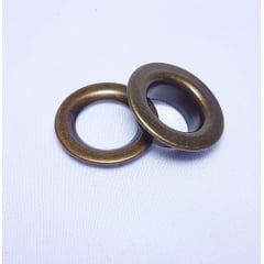 Ilhós de ferro arruela com garra n.º 2 - Ouro Velho - Pcte c/ 10 unid