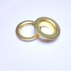 Ilhós de ferro arruela com garra n.º 3 - Dourado - Pcte c/ 10 unid