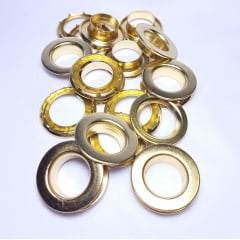 Ilhós de ferro arruela com garra n.º 4 - Dourado - Pcte c/ 10 unid