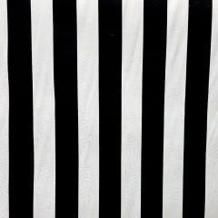 Tecido Jacquard Listrado Preto e Branco - 1.40m de Largura