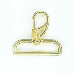 Mosquetão Dourado Verniz Ref. 1166 - 4,0cm
