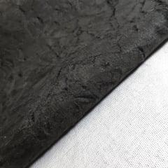 Tecido Suede Amassado - Larg 1,40m - Preto