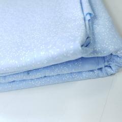 Tricoline 100% Algodão - Mini Ramos Azul Claro