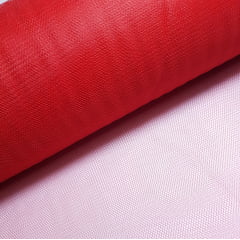 Tule Vermelho Largura 120cm 100% Poliéster