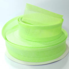Viés de Algodão Larg 25mm - Verde Fluor - 5mt