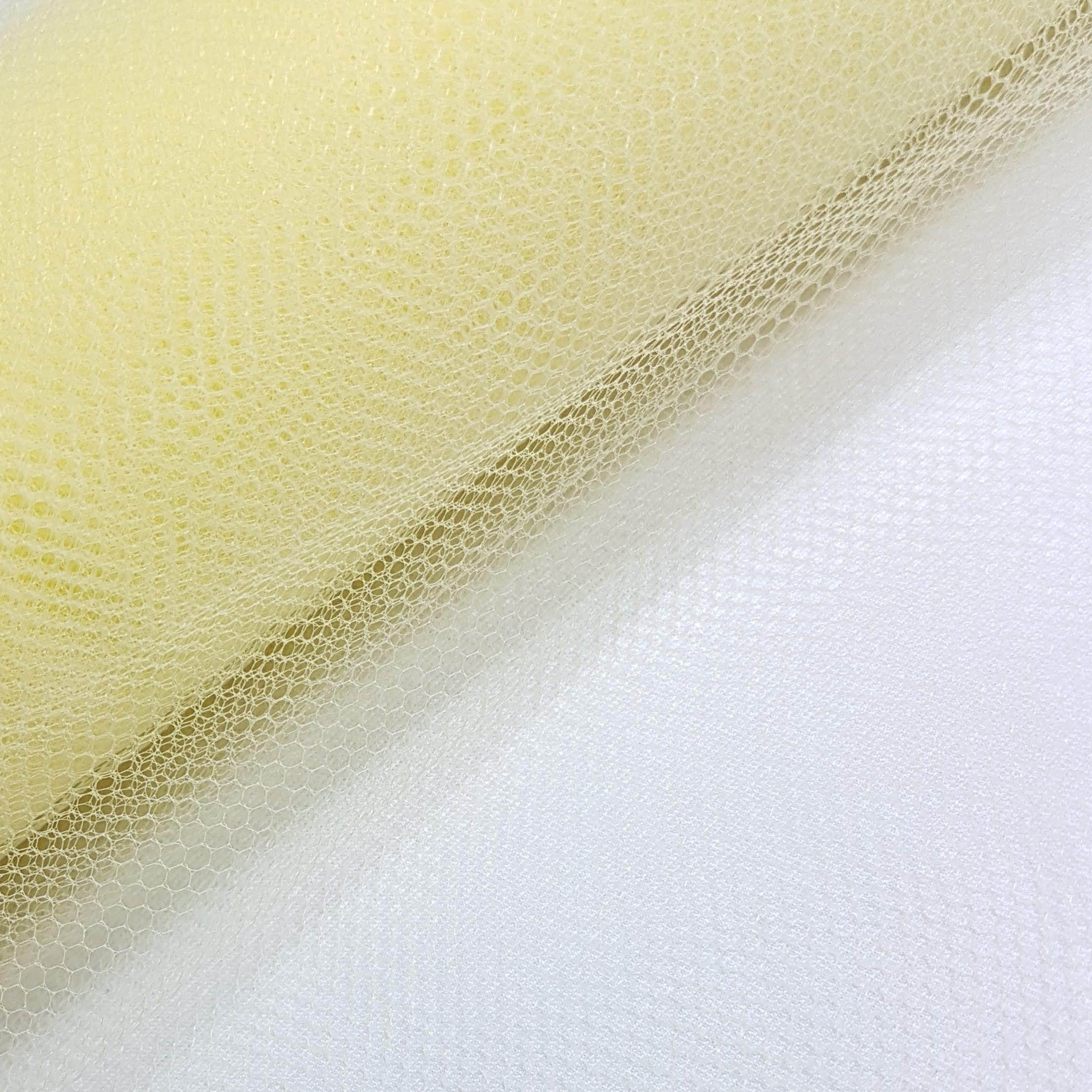 Tule Amarelo Claro Largura 120cm 100% Poliéster