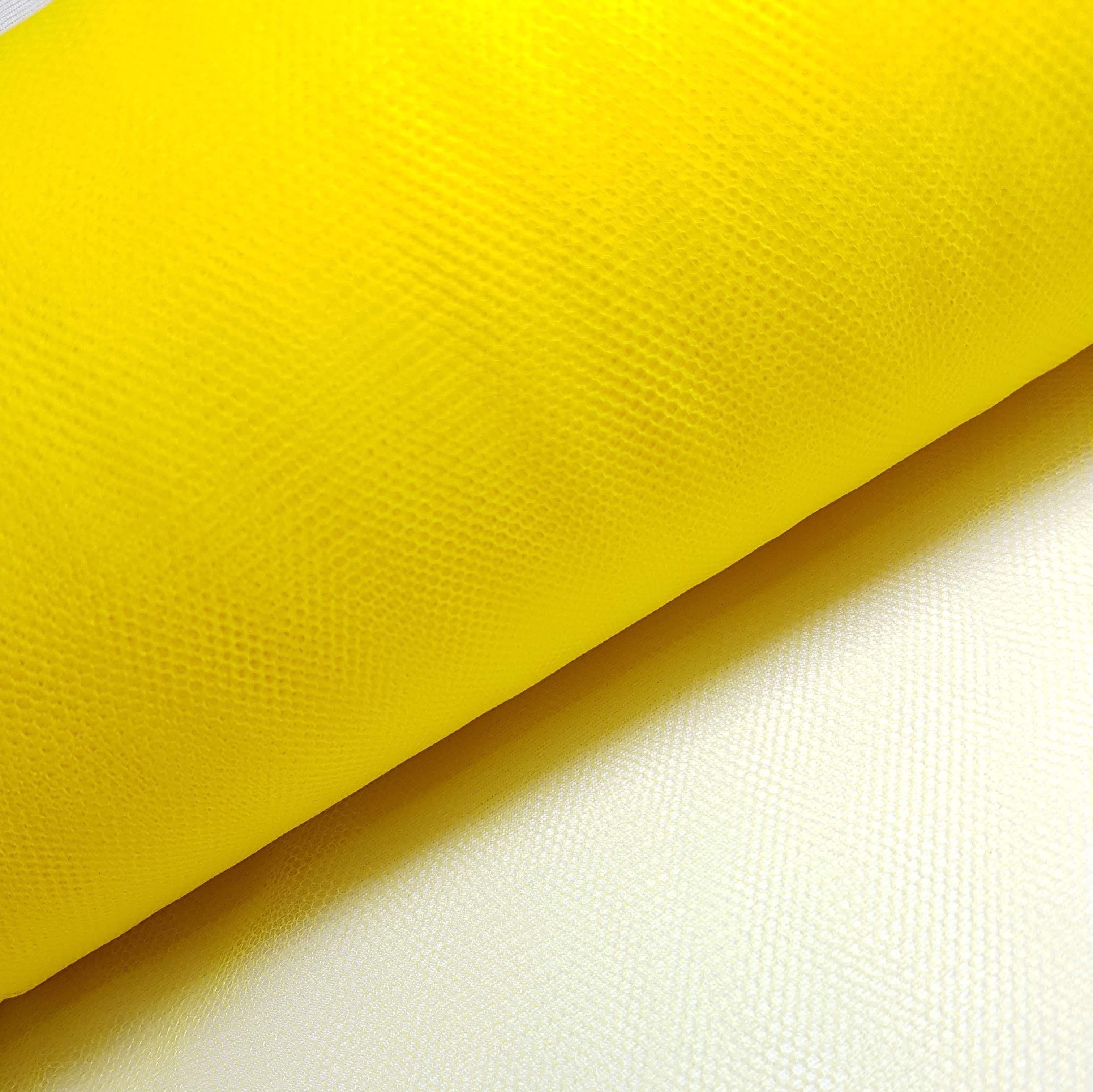 Tule Amarelo Largura 120cm 100% Poliéster