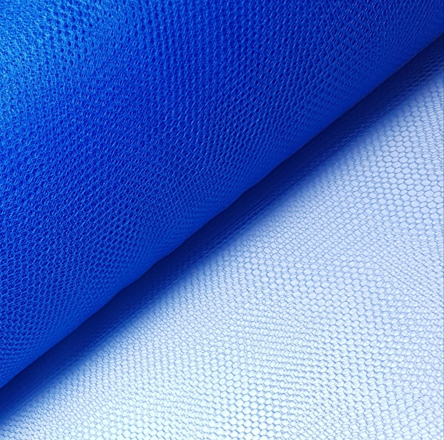 Tule Azul Royal Largura 120cm 100% Poliéster